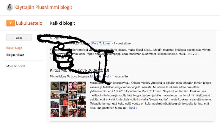 kuinka lisata wordpressin blogi bloggerin lukuluetteloon