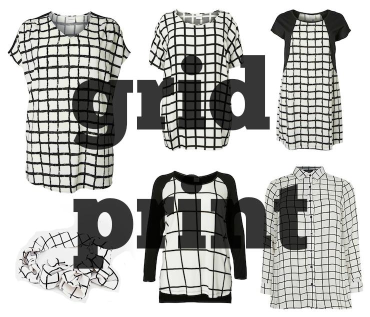 Grid Print Plus Size