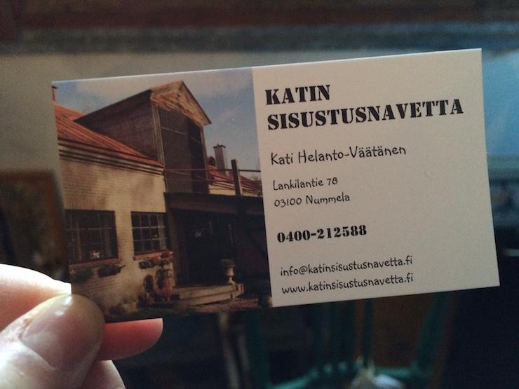 Katin sisustusnavetta Nummela yhteystiedot