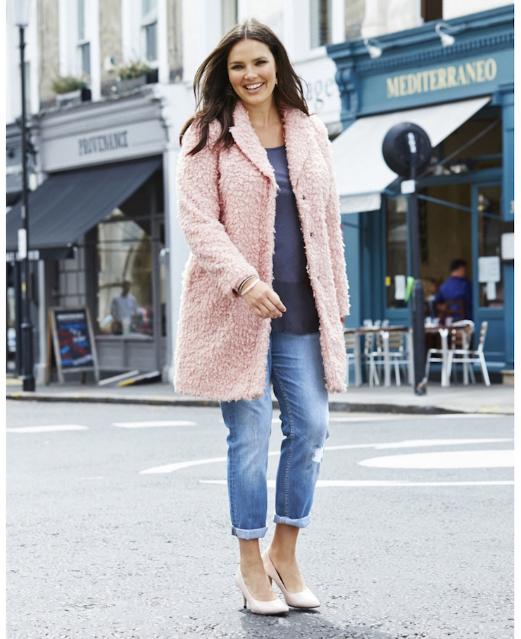 Simply be pastel fur coat
